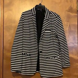 Mossimo Supply Co. Jackets & Coats - Mossimo black and white striped blazer